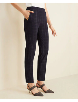 "<A Href=""Https://Www.Anntaylor.Com/The Petite Side Zip Ankle Pant In Navy Windowpane Bi Stretch/509882?Sku Id=27842201&Default Color=5473&Price Sort=Desc"" Tabindex=""0"">The Petite Side Zip Ankle Pant In Navy Windowpane Bi Stretch</A> by Ann Taylor"