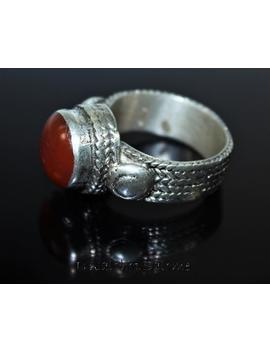 Klassischer Afghanischer Kuchi Silber Ring Mit Karneol, Vintage Ethno Tribal Nomadenschmuck, Geschenk Für Sie, 19 Mm Innendm by Etsy