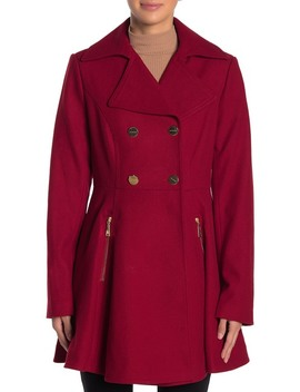Fit & Flare Wool Blend Coat by Laundry By Shelli Segal