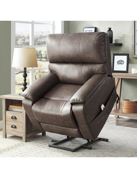 Better Homes & Gardens Elton Deluxe Lift Recliner With Heat And Massage, Warm Gray Upholstery by Better Homes & Gardens