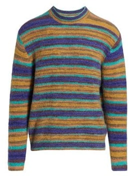 Nosti Striped Mohair Blend Crewneck Sweater by Acne Studios