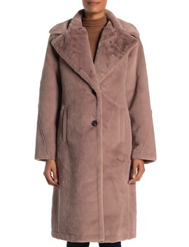 Faux Fur Single Breasted Coat by Avec Les Filles