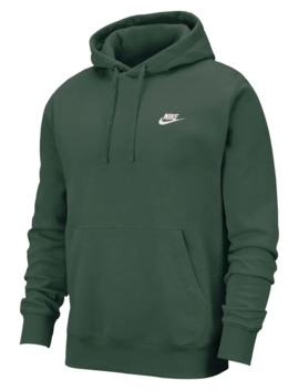 Club Cotton Blend Fleece Pullover Hoodie by Nike