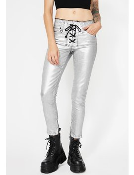 Blondie Lace Up Pants by Neon Blonde