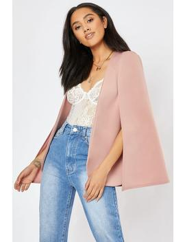 Rose Pink Cape Blazer by In The Style