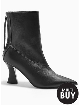 Topshop Mara Point Boots   Black by Topshop