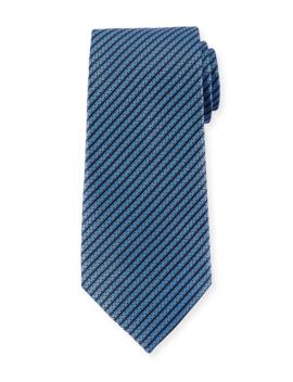 Diagonal Stripe Silk Tie by Ermenegildo Zegna