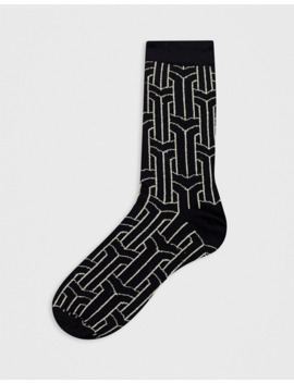 Asos Design Ankle Sock With Glitter Thread Embroidery by Asos Design