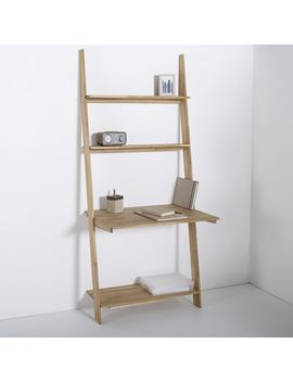 Domeno Solid Oak Wall Mounted Shelving Unit & Desk by La Redoute Interieurs