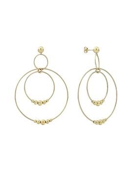 Caviar Gold Triple Circle Orbital Drop Earrings by Lagos