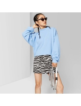 Women's Crewneck Boxy Sweatshirt   Wild Fable™ Blue by Wild Fable