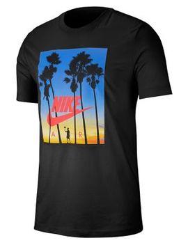 Tropical Print Cotton T Shirt by Nike