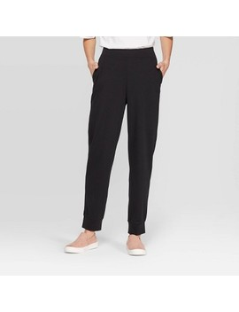 Women's Mid Rise Straight Leg Knit Jogger Pants   Prologue™ by Prologue