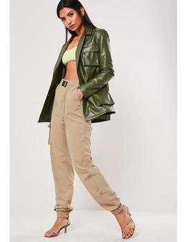 Sand Buckle Detail Cargo Trousers by Missguided