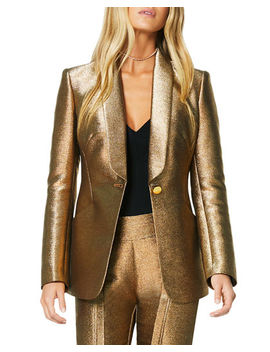 Dahlia Metallic Shawl Collar Jacket by Ramy Brook