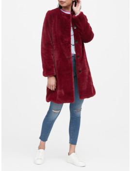 Faux Fur Coat by Banana Repbulic