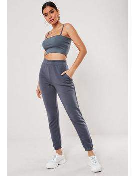 Grey Slim Leg Jogger by Missguided