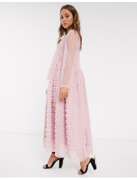 Sister Jane Oversized Maxi Smock Dress With Full Skirt In Tiered Tulle by Sister Jane