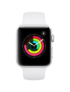 Apple Watch Series 3 38mm Gps Silver With White Sport Band   Open Box (10/10 Condition) by Best Buy