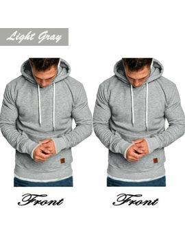 Men's Winter Hoodies Slim Fit Hooded Sweatshirt Outwear Sweater Warm Coat Jacket by Unbranded