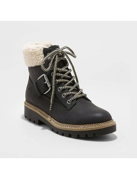 Women's Susan Microsuede Sherpa Lace Up Fashion Boots   Universal Thread™ by Universal Thread