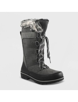 Women's Ruthie Microsuede Functional Winter Boots   Universal Thread™ by Universal Thread