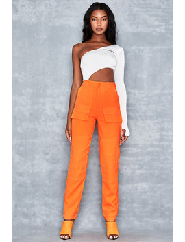 Neon Orange Trousers by Mistress Rocks