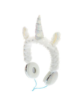 Glitter Bunny Headphones   White by Claire's