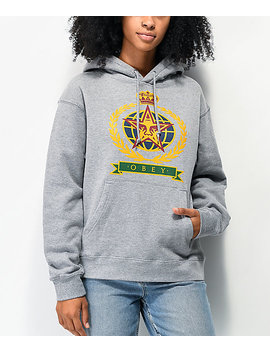 Obey Prodigy Heather Grey Hoodie by Obey