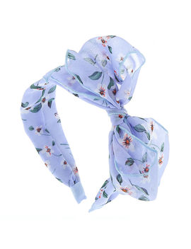 Floral Knot Bow Headband   Powder Blue by Claire's