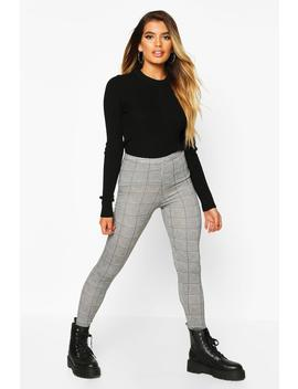 Mini Dogtooth Basic Jersey Leggings by Boohoo