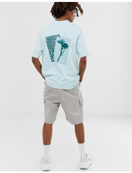 Asos White   T Shirt Ampia Con Stampa Sul Petto E Sul Retro by Asos White
