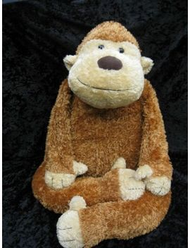 "Jellycat Junglie Marvin Jumbo Brown Monkey Bunglie Soft Lovey Stuffed Toy 36"" by Jellycat"