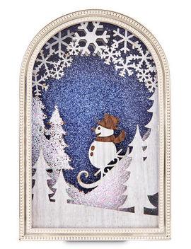 Snowman Woodland Scene Nightlight   Wallflowers Fragrance Plug    by Bath & Body Works