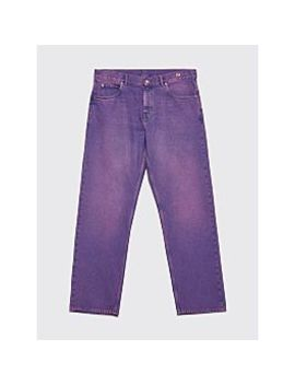 Martine Rose Straight Leg Jeans Purple by Très Bien