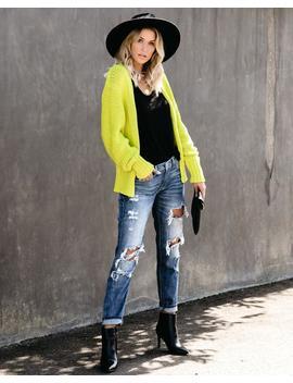 Kind Mind Cotton Blend Knit Cardigan   Key Lime by Vici