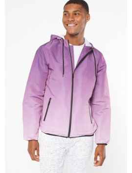 Purple Ombre Zip Front Windbreaker by Rue21