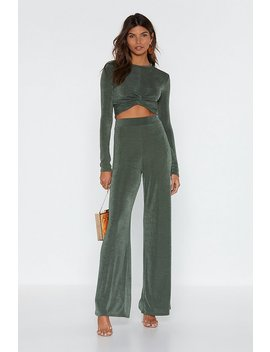 Ensemble Crop Top Et Pantalon Je Nœud Plaisante Pas by Nasty Gal