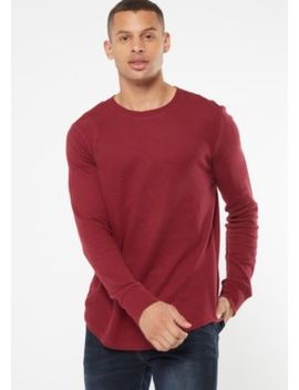 Burgundy Crew Neck Thermal Top by Rue21