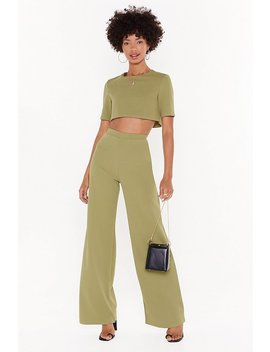 Ensemble Crop Top &Amp; Pantalon Large Pas Sans Toi by Nasty Gal
