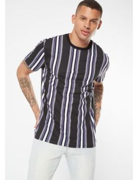 Purple Vertical Striped Tee by Rue21