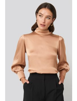 Button Shoulder Detailed Blouse Pink by Trendyol