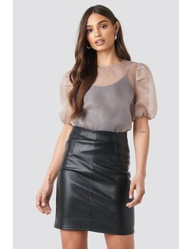 High Waist Short Pu Skirt Black by Na Kd Trend