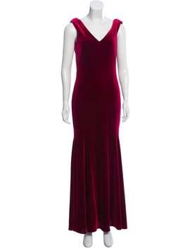 Velvet Evening Dress by Theia