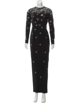Lace Trimmed Evening Dress by Alessandra Rich