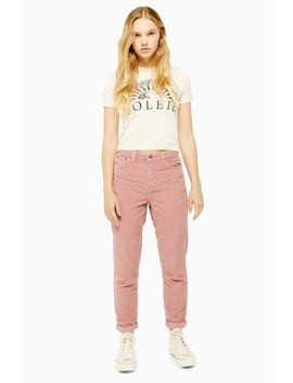 Blush Corduroy Mom Jeans by Topshop