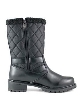 Whittaker2 Lug Sole Cold Weather Faux Fur Booties by Aquatherm By Santana Canada
