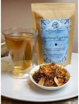 Evening Unwind, Anti Stress & Anti Anxiety Tea, Organic Loose Leaf Wellness Tea, Caffeine Free by Etsy