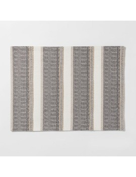 "19""X14"" Woven Textured Stripe Placemat Cream   Threshold™ by Threshold"