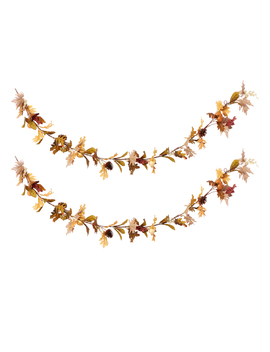 Way To Celebrate Fall Decorative Garland, Cream Pumpkin, Set Of 2 by Harvest